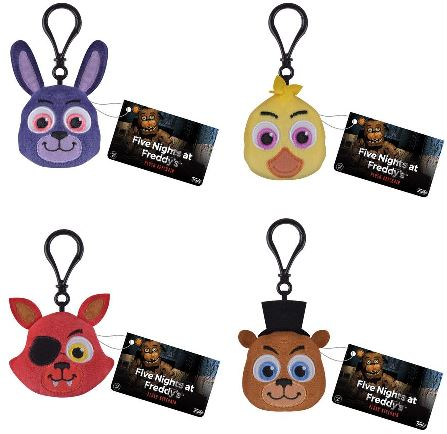 Five nights at freddy s funko plush keychains complete set 4