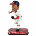Francisco Lindor (Cleveland Indians) 2017 MLB Headline Bobble Head by Forever Collectibles