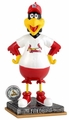Fredbird Mascot (St. Louis Cardinals) 2015 Springy Logo Action Bobble Head Forever Collectibles