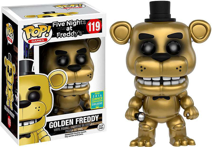 Golden freddy five nights at freddy s sdcc exclusive funko pop