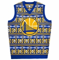 Golden State Warriors Aztec Ugly Sweater Vest