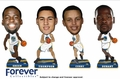 Golden State Warriors Mini Bighead 2016 NBA Bobble 4 Pack by Forever Collectibles