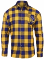 Golden State Warriors NBA Checkered Mens Long Sleeve Flannel Shirt