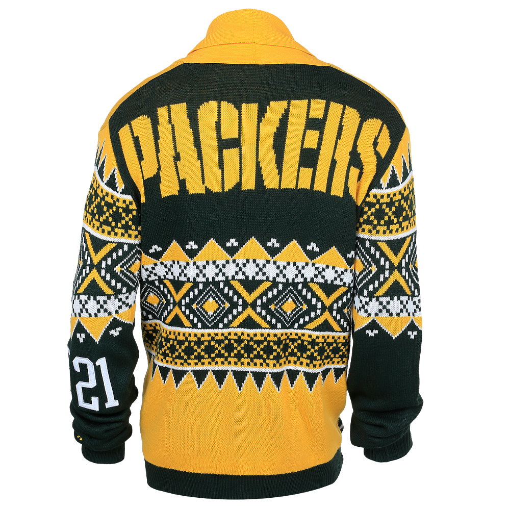 Men S Green Bay Packers Klew Green Ugly Sweater Vest