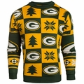 Green Bay Packers 2016 Patches NFL Ugly Crew Neck Sweater by Forever Collectibles