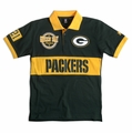 Green Bay Packers NFL Cotton Wordmark Rugby Short Sleeve Polo Shirt