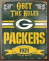 Green Bay Packers Embossed Metal Sign