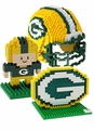 Green Bay Packers NFL 3D BRXLZ Puzzle Set By Forever Collectibles