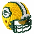 Green Bay Packers NFL 3D Helmet BRXLZ Puzzle By Forever Collectibles