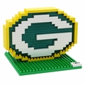 Green Bay Packers NFL 3D Logo BRXLZ Puzzle By Forever Collectibles