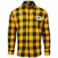 Green Bay Packers NFL Checkered Men's Long Sleeve Flannel Shirt