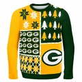 Green Bay Packers NFL Ugly Sweater Busy Block