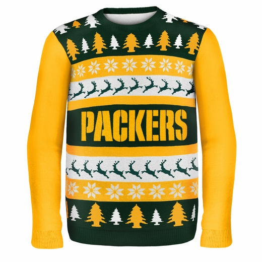 Green Bay Packers NFL Ugly Sweater Wordmark