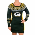 Green Bay Packers NFL Women's Big Logo Sweater Dress