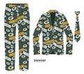 Green Bay Packers NFL Repeat Logo Ugly Business Suit by Forever Collectibles