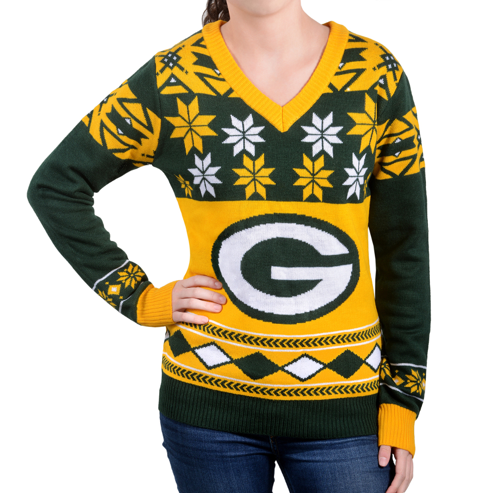 8d2c5c5d Mens Green Bay Packers Klew Green Ugly Sweater Vest