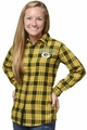 Green Bay Packers NFL 2016 Women's Wordmark Long Sleeve Flannel Shirt