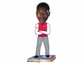 Hakeem Olajuwon (Houston Rockets) NBA 50 Greatest Players Bobble Head Forever