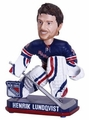 Henrik Lundqvist (New York Rangers) Forever Collectibles 2014 NHL Springy Logo Base Bobblehead