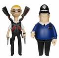 Hot Fuzz Vinyl Idolz Complete Set (2)