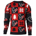 Houston Texans 2016 Patches NFL Ugly Crew Neck Sweater by Forever Collectibles