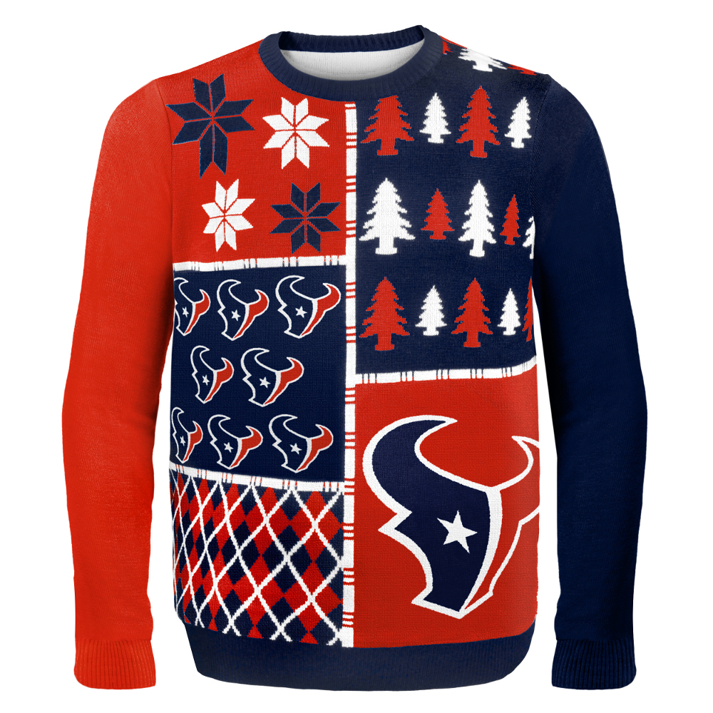 Houston Texans NFL Ugly Sweater Busy Block