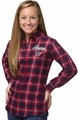 Houston Texans NFL 2016 Women's Wordmark Long Sleeve Flannel Shirt