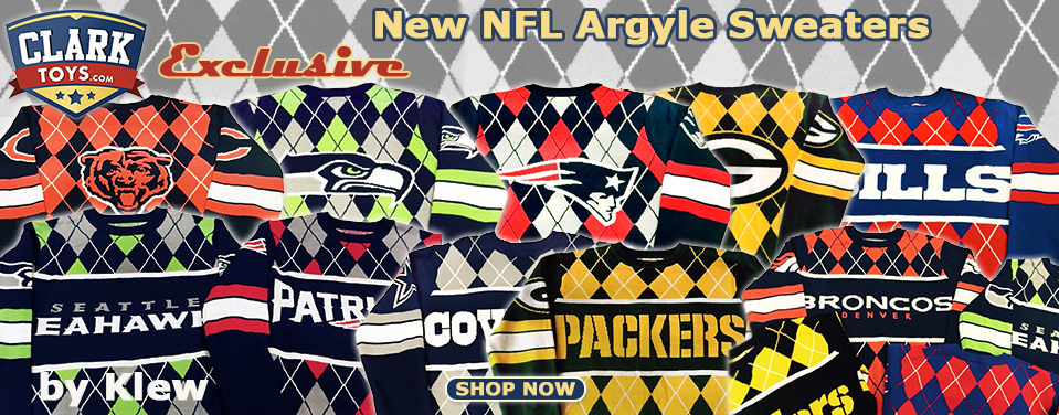 NFL Argyle Sweater Exclusives!