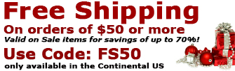 FREE SHIPPING on $50+!  USE CODE FS50