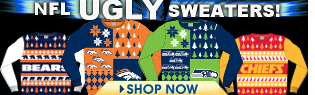 NFL Ugly Sweaters by Forever Collectibles!