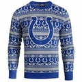 Indianapolis Colts 2016 Aztec NFL Ugly Crew Neck Sweater by Forever Collectibles