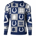 Indianapolis Colts 2016 Patches NFL Ugly Crew Neck Sweater by Forever Collectibles