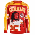 Jamal Charles #25 (Kansas City Chiefs) NFL Player Ugly Sweater
