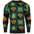 Jacksonville Jaguars 2016 Patches NFL Ugly Crew Neck Sweater by Forever Collectibles