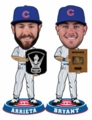 Jake Arrieta and Kris Bryant (Chicago Cubs) 2015 MLB Awards Bobble Heads Cubs Set (2) Forever Collectibles