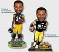 Jerome Bettis (Pittsburgh Steelers) 2015 Forever Collectibles Bobble Head Complete Set (2)