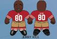 """Jerry Rice (San Francisco 49ers) 24"""" NFL Plush Studds by Forever Collectibles"""