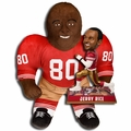"Jerry Rice (San Francisco 49ers) NFL Legends Bobble Head and 24"" NFL Plush Studds by Forever Collectibles Combo"