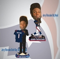 Jerry Ricecake (Houston Texans) 2014 NFL Bobble Head Set (2) Forever
