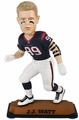"JJ Watt (Houston Texans) 2015 NFL Real Jersey 10"" Bobble Heads Forever Collectibles"