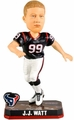 JJ Watt (Houston Texans) Forever Collectibles 2014 NFL Springy Logo Base Bobblehead
