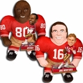"Joe Montana and Jerry Rice (San Francisco 49ers) NFL Legends Bobble Head and 24"" NFL Plush Studds by Forever Collectibles Combo"