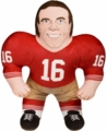 "Joe Montana (San Francisco 49ers) 24"" NFL Plush Studds by Forever Collectibles"