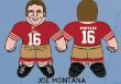 """Joe Montana (San Francisco 49ers) 24"""" NFL Plush Studds by Forever Collectibles"""