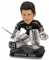 Jonathan Quick (Los Angeles Kings) Forever Collectibles 2014 NHL Springy Logo Base Bobblehead