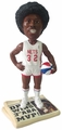 Julius Erving (New York Nets) 3X ABA MVP Newspaper Base NBA Legends Bobble Head