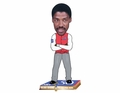 Julius Erving (Philadelphia 76ers) NBA 50 Greatest Players Bobble Head Forever