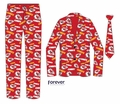 Kansas City Chiefs NFL Repeat Logo Ugly Business Suit by Forever Collectibles