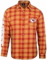 Kansas City Chiefs Wordmark Mens Long Sleeve Flannel Shirt
