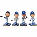 Kansas City Royals 2015 World Series Champions Mini Big Head Bobble Head 4 Pack